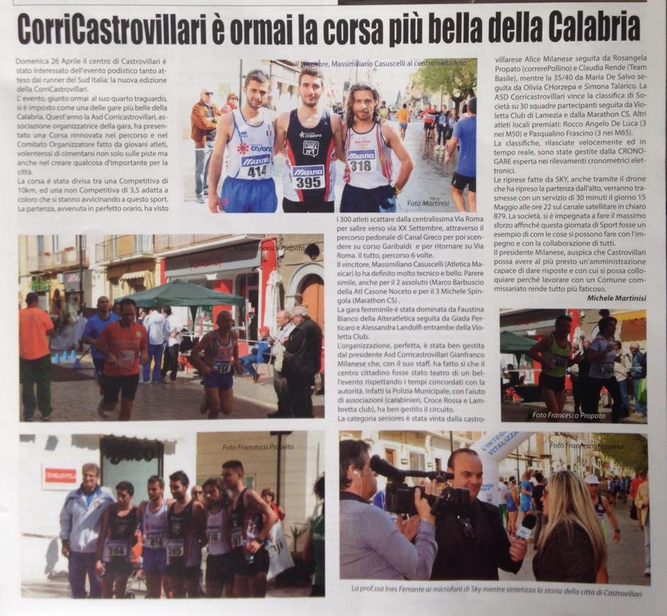 CorriCastrovillari è ormai la corsa più bella della Calabria